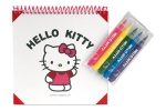 MELODY - 16 pages spiral colouring booklet with different Hello Kitty® drawings