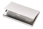 Stanwel - chrome business card holder
